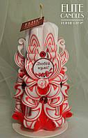 Резная свеча ручной работы, высота 17 см, куме на подарок