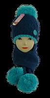 Комплект шапка+шарф 10-15 лет
