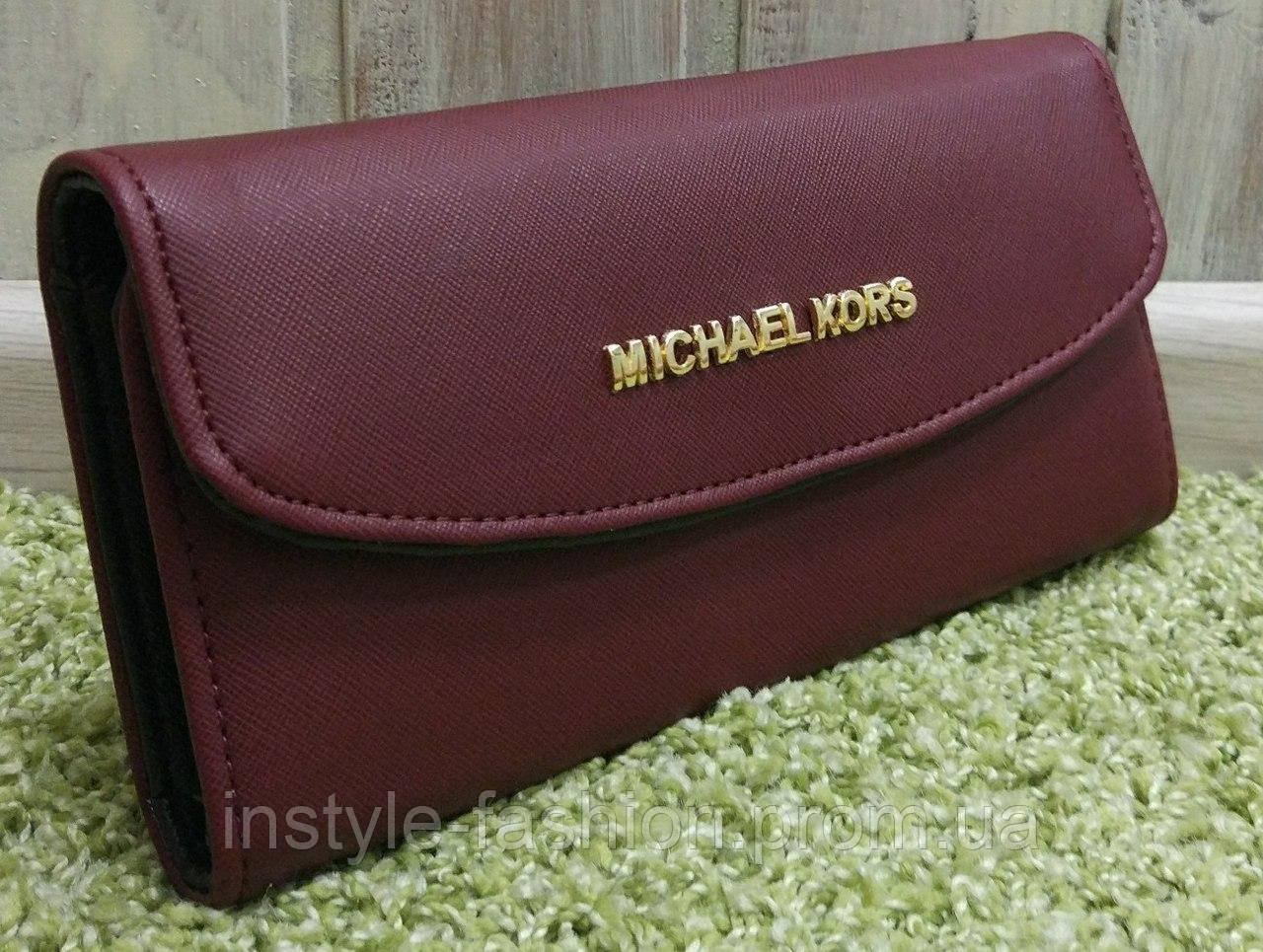 Кошелек женский Майкл Корс Michael Kors раскладной бордовый  купить ... 344589e4bc1