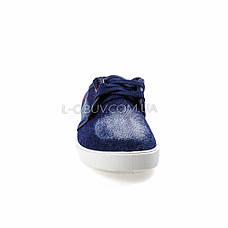 Кеды джинсовые синие на шнурках 2205-30, фото 3