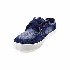 Кеды джинсовые синие на шнурках 2205-30, фото 2