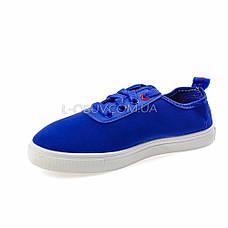 Кеды голубые на шнурках 2209-6, фото 2