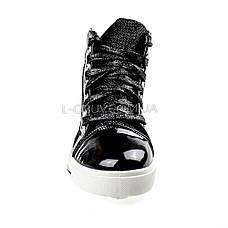 Кеды высокие черные на шнурках 2206-2, фото 3