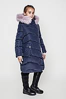 Зимнее модное пальто для девочки Лорен (128-158р).