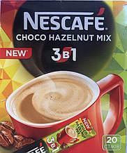 Кофейный напиток Nescafe Choco Hazelnut mix 3 в 1 ,20 пак