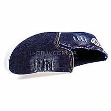 Кеды джинсовые синие с нашивкой 2202-30, фото 3