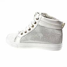 Кеды высокие белые на шнурках 2206-1, фото 3
