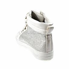 Кеды высокие белые на шнурках 2206-1, фото 2