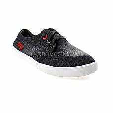 Кеды джинсовые черные на шнурках 2205-32, фото 2
