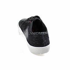 Кеды джинсовые черные на шнурках 2205-32, фото 3