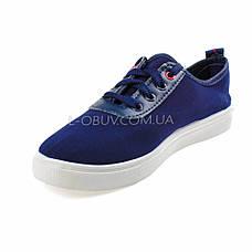 Кеды синие на шнурках 2209-9, фото 2