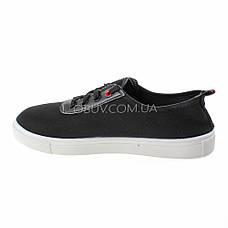 Кеды черные на шнурках 2209-2, фото 2
