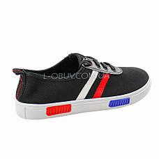 Кеды черные на шнурках 2209-2, фото 3