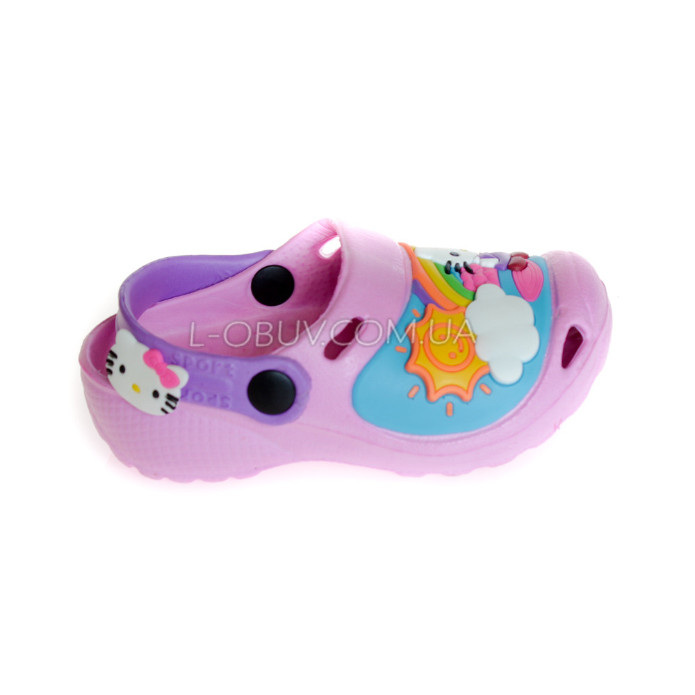 Кроксы Hello Kitty розовые 114-3