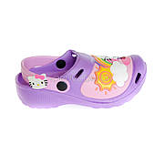 Кроксы Hello Kitty фиолетовые 114-12