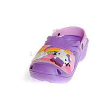 Кроксы Hello Kitty фиолетовые 114-12, фото 2