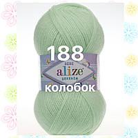 Детская пряжа  для ручного вязания 188 бледно-зеленый