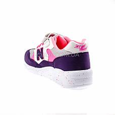 Кроссовки легкие с сеткой фиолетовые 1901-12, фото 3