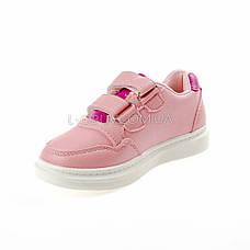 Кроссовки на липучках со звездой розовые 1205-3, фото 2
