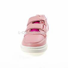 Кроссовки на липучках со звездой розовые 1205-3, фото 3