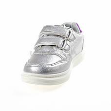 Кроссовки на липучках со звездой серебро 1205-5, фото 3