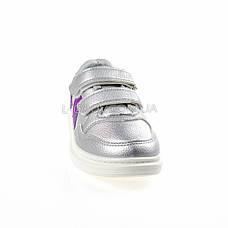 Кроссовки на липучках со звездой серебро 1205-5, фото 2