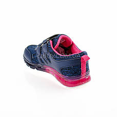 Кроссовки с подсветкой светящиеся синие 1803-9, фото 3