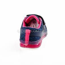 Кроссовки с подсветкой светящиеся синие 1803-9, фото 2