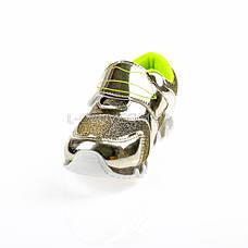 Кроссовки с сеткой  золотые легкие и яркие 902-4, фото 2