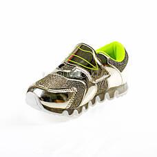 Кроссовки с сеткой  золотые легкие и яркие 902-4, фото 3