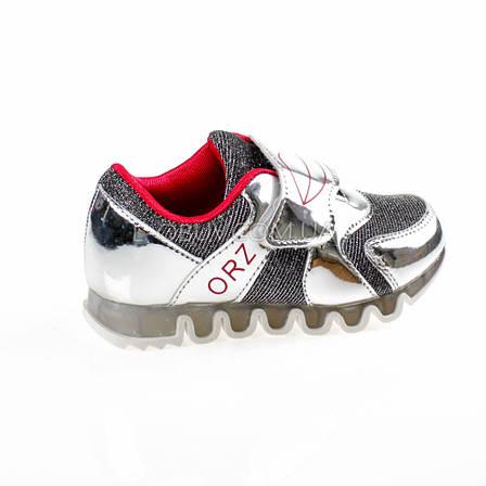 Кроссовки с сеткой серебро легкие и яркие 902-5, фото 2
