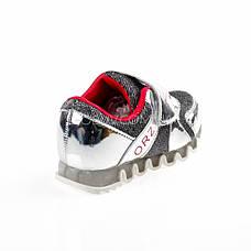 Кроссовки с сеткой серебро легкие и яркие 902-5, фото 3