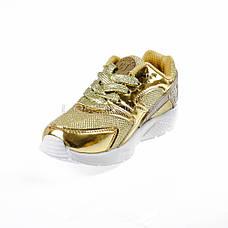 Кроссовки с сеточкой золотые Шалунишка 104-4, фото 2