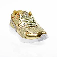 Кроссовки с сеточкой золотые Шалунишка 104-4, фото 3
