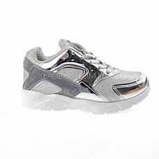 Кроссовки с сеточкой серебро Шалунишка 104-5, фото 3