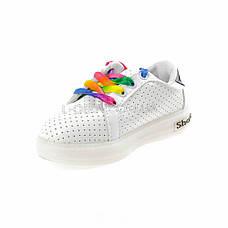 Кроссовки светящиеся белые с полосками 110-1, фото 2