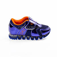 Кроссовки с сеткой синие легкие и яркие 902-9