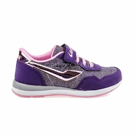 Кроссовки светящиеся сетка  фиолетово-серые 2001-128, фото 2