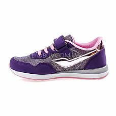 Кроссовки светящиеся сетка  фиолетово-серые 2001-128, фото 3