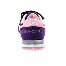 Кроссовки светящиеся сетка фиолетово-розовые 2001-12, фото 2