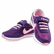 Кроссовки светящиеся сетка фиолетово-розовые 2001-12, фото 3