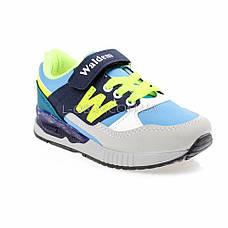 Кроссовки серо-голубые 226-86, фото 3