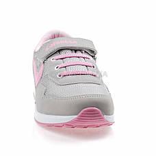 Кроссовки сетка серо-розовые 2001-3, фото 3