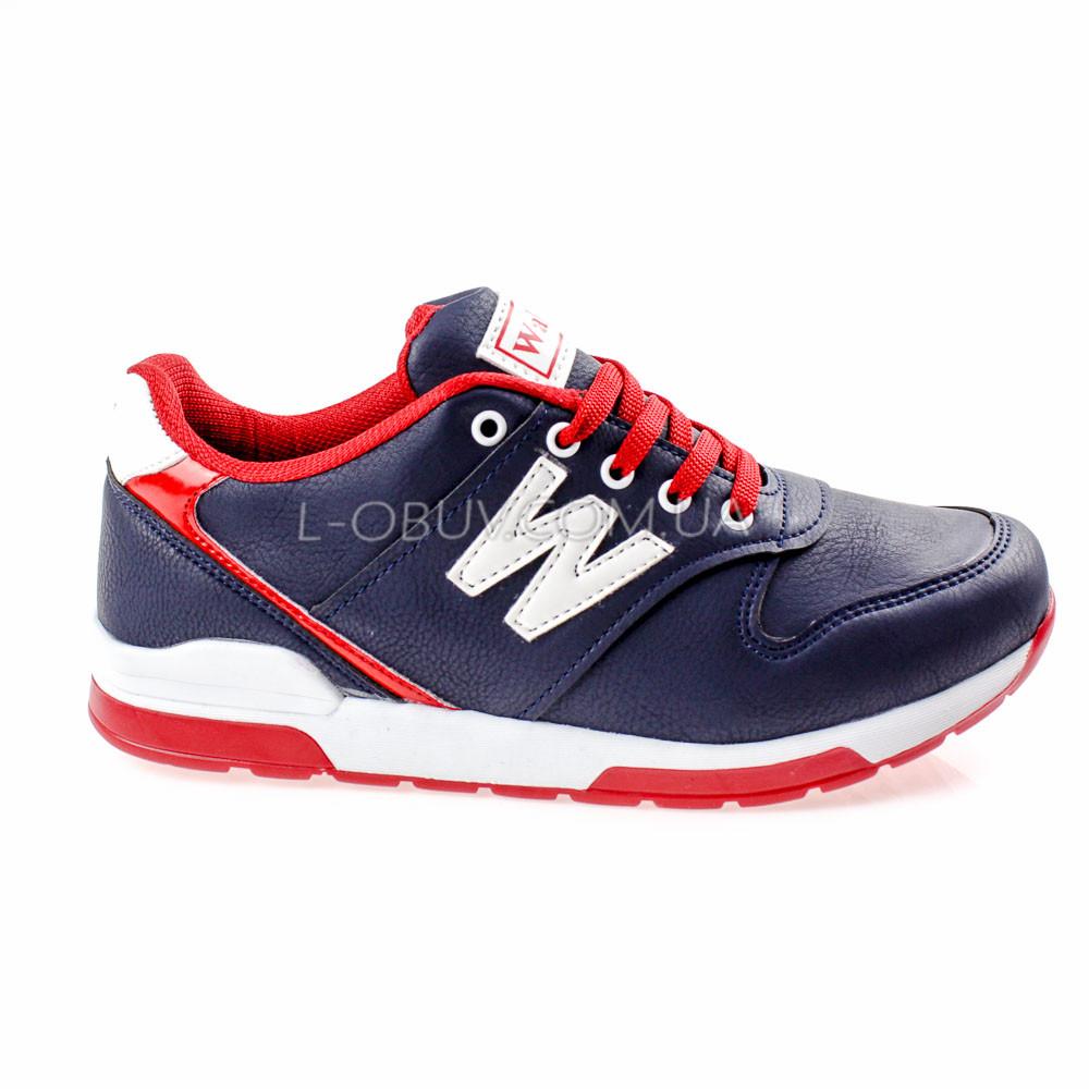 Кросівки синьо-червоні 228-97
