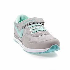 Кросівки сітка сірі-м'ята 2001-14, фото 3