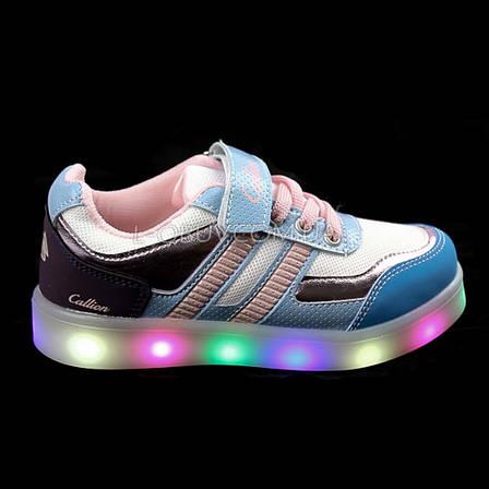 Кроссовки со светящейся LED подошвой, на батарейках, мигалки, на Батарейках 2101-63, фото 2