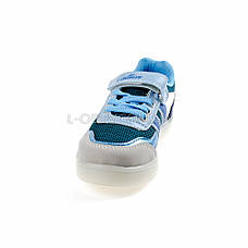 Кроссовки со светящейся LED подошвой, на батарейках, мигалки, голуб-синий 2101-69, фото 2