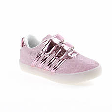 Кроссовки со светящейся LED подошвой, мигалки, розовые 402-3, фото 2