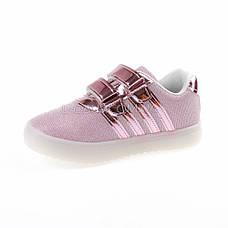 Кроссовки со светящейся LED подошвой, мигалки, розовые 402-3, фото 3