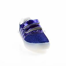 Кроссовки со светящейся LED подошвой, мигалки, синие 401-9, фото 3